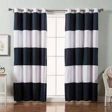 Rugby Stripe Curtains Stripe Cotton Blend Blackout Curtains