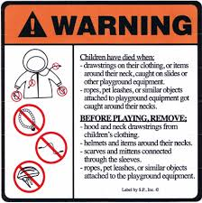 playground signs and labels