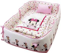 disney minnie mouse printed baby bedding 4 piece set pink a02