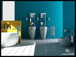 Yellow Accent Wall Project Bathroom Blue Yellow Accent Wall Hampedia