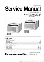 panasonic room air conditioners cw c100mu cw c120mu hq2101mh