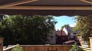 Sunsetter Roof Brackets by Sunsetter Motorized Awning Youtube