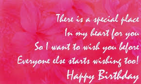 birthday card with wishes for someone special