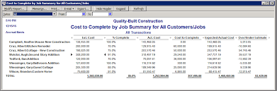 construction cost report template quickbooks cost reports for construction companies