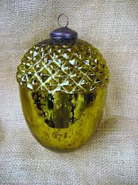 vintage mercury glass acorn ornament m a k e y o u r