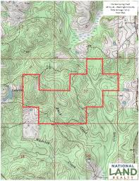 Washington County Gis Map by The Red Creek Tract In Washington County Alabama
