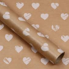 heart wrapping paper white wedding heart kraft 3m roll wrapping paper wedding