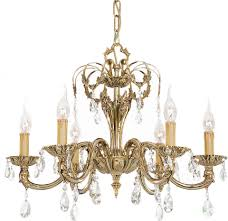 Classic Chandelier Classic Chandelier Brass Incandescent Roma 048a Riperl