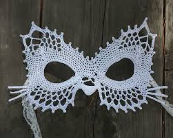 cat masquerade mask lace cat masquerade mask dress up or photo prop crochet pattern