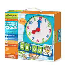 time learning clock 4m thinking kits tell time learning clock