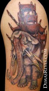 color lord of the rings oliphant tattoos