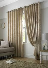 Curtain Pairs Tivoli Leaf Design Lined Eyelet Curtains Ready Made Ready Made