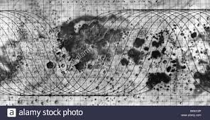 Moon Map Astronomy Moon Soviet Moon Surface Map With Flight Diagram Of