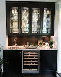 back bar cabinets with sink i love the glass door uppers and would love this in a light grey