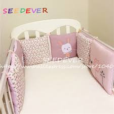 6pcs lot crib bumper pads baby cotton infant bed bumpers animal