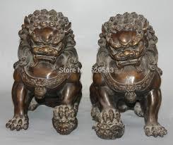 fu dog statues free 12 bronze fengshui guardian foo fu dog door lion kid