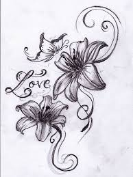 lilies flower tattoos flower tattoos and tigers