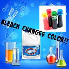 science experiment bleach changes food coloring youtube