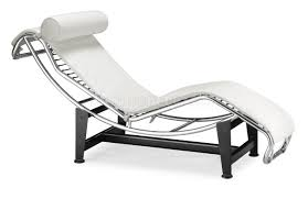 white leather upholstery modern chaise lounger w bolster pillow