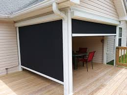 Motorized Outdoor Blinds Roll Down Blinds