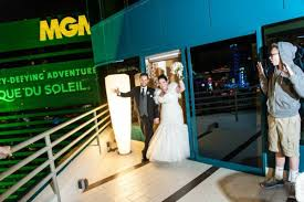 mgm wedding krista and s modern mgm grand suite reception from