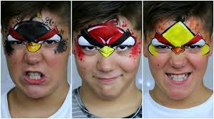 angry birds u2014 face painting u0026 makeup tutorial for kids youtube