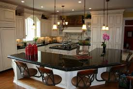 granite countertop shaker door kitchen cabinets beach glass
