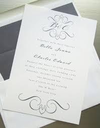 Monogram Wedding Invitations Custom Monogram Wedding Invitations Paperinvite
