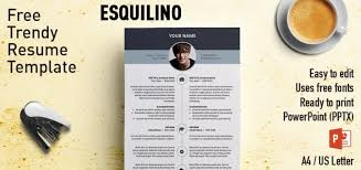 free modern resume templates esquilino modern powerpoint resume template