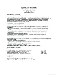 sample career summary gallery of simple job resume examples professional marketing