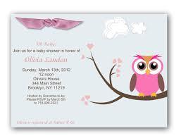 baby shower invites for girl baby shower girl invitation oh baby owl baby shower invitations