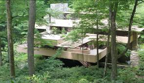frank lloyd wright waterfall fallingwater or the kaufmann residence was designed by architect