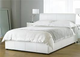 Faux Bed Frames White Bed Frame Bali White Ottoman Faux Leather Bed