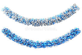 blue and silver decorations stock illustration image
