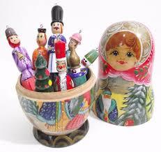 russian doll tree decorations rainforest islands ferry