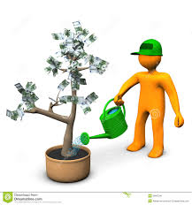 watering money tree stock image image 26603241