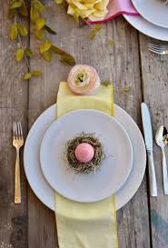 easter nest place setting and favor diy make life lovely