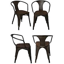 Distressed Bistro Chair Amazon Com Best Choice Products Set Of 4 Distressed Industrial