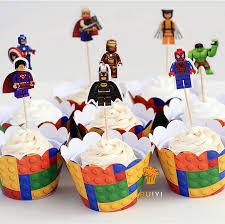 captain america cake topper online shop 48pcs lego superman batman captain america cupcake