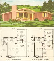 modern ranch floor plans mid century modern ranch house plans 54 nps modernist print national