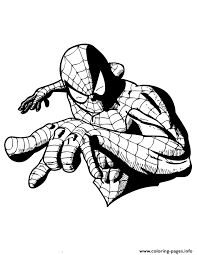 comic book superhero spider man colouring coloring pages