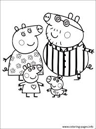 peppa pig cartoon free color pages kids coloring pages printable
