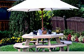 Luxcraft Poly Octagon Picnic Table Swingsets Luxcraft Poly by Buckeye Buildings Natural Wooden Outdoor Furniture From Luxcraft