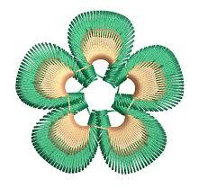 2x2 flower machine embroidery design