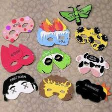 passover plague toys 10 plagues masks passover toys for kids popsugar photo 1