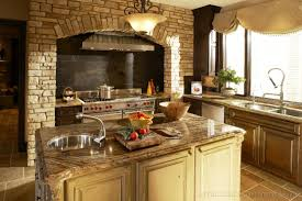 Tuscan Kitchen Decorating Ideas Photos Cool Tuscan Kitchen Decor With Fireplace And Brick Wall Kitchen