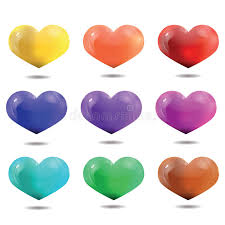 bright multicolored hearts template for valentine u0027s day and we