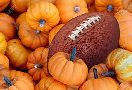 thanksgiving day football and autumn sports during harvest time