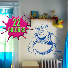 popular shrek wall art decal vinyl sticker wall stickers decals shrek seen next to window wall art decal vinyl sticker