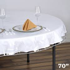 Plastic Fitted Tablecloths 70